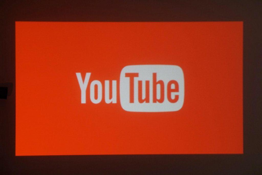 プロジェクター×PS4、YouTube